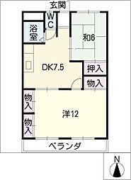 プラムコート[1階]の間取り