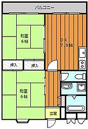 大阪府堺市堺区春日通1丁の賃貸マンションの間取り