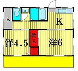 [一戸建] 千葉県松戸市吉井町 の賃貸【千葉県 / 松戸市】の間取り