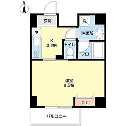 第3三先ハウス[3階]の間取り