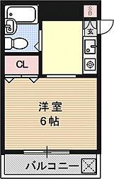 アメニティ寺町[201号室号室]の間取り