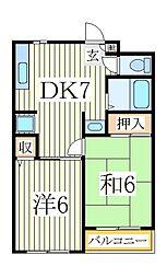 OakHouse[3階]の間取り