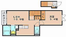 サンコー西月隈[2階]の間取り