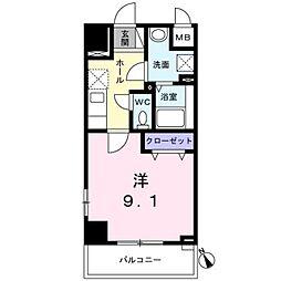 西武新宿線 西武柳沢駅 徒歩7分の賃貸マンション 7階1Kの間取り