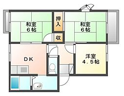 フレグランス五反田[2階]の間取り