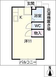 ハイライフKZ[2階]の間取り