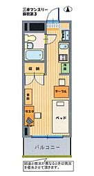 三幸第3マンション[403号室]の間取り