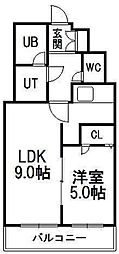 ロータリー円山[302号室]の間取り