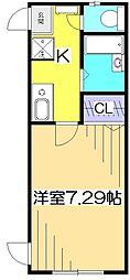ライフ・コート貫井北町[1階]の間取り