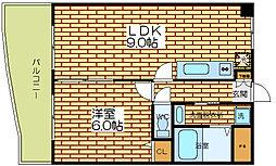 大阪府大阪市福島区玉川4丁目の賃貸マンションの間取り
