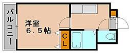 ルメイヤー博多[6階]の間取り