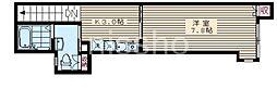7777-Studio 385 2階1Kの間取り