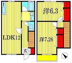 [テラスハウス] 千葉県船橋市葛飾町2丁目 の賃貸【千葉県 / 船橋市】の間取り