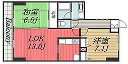 千葉県千葉市中央区出洲港の賃貸マンションの間取り