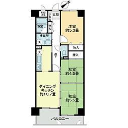 ライオンズマンション姫路西今宿[7階]の間取り