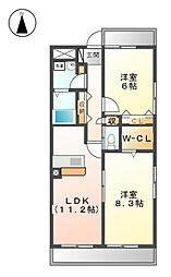 G-PLACE282[3階]の間取り
