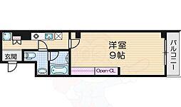 トモミハイム曙 2階1Kの間取り