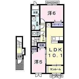 コンセール[2階]の間取り