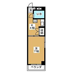 ハイツ浅井[4階]の間取り