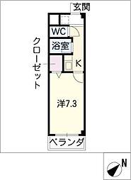 愛教マンション安井[2階]の間取り