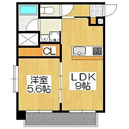 sawarabi kitayama[401号室]の間取り