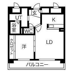 インペリアル37[7階]の間取り