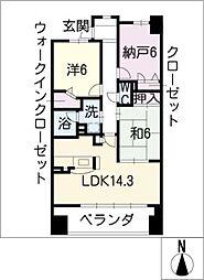 ライオンズマンション金山ニューシティ B-315[3階]の間取り