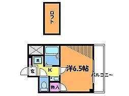 ハイツ壱番館[4階]の間取り