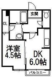ラディエンスビル[3階]の間取り