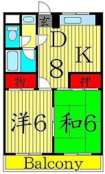 東京都足立区綾瀬6丁目の賃貸マンションの間取り
