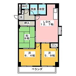 ザ・末広館[2階]の間取り