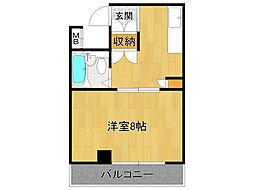 ハイステージ武庫之荘[4階]の間取り