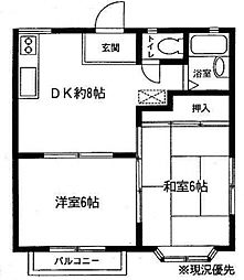 神奈川県横浜市泉区和泉が丘3丁目の賃貸アパートの間取り