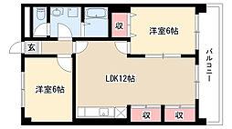 愛知県名古屋市名東区勢子坊2丁目の賃貸マンションの間取り
