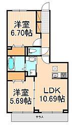 (仮)D-room西綾瀬[3階]の間取り