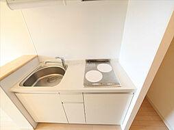 KDX千早レジデンスのシステムキッチン(IH2口)冷蔵庫レンジ等ご用意できます