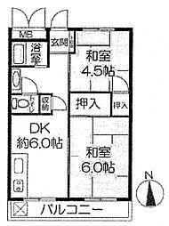 メゾン本山[401号室号室]の間取り
