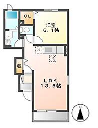 フォレストKM 6[1階]の間取り