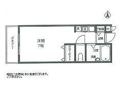 加賀山コーポ6号棟[70号室]の間取り