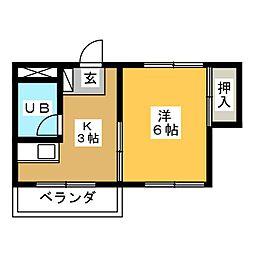 高蔵ビル[2階]の間取り