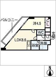 アーサ上小田井[3階]の間取り