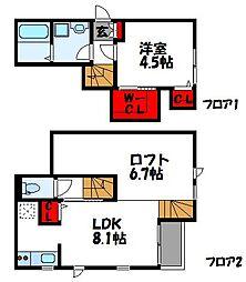 JR鹿児島本線 ししぶ駅 徒歩5分の賃貸アパート 1階1SLDKの間取り