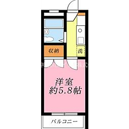 エース二俣川[201号室]の間取り