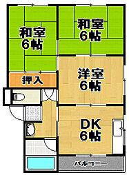 第2向和マンション[3階]の間取り