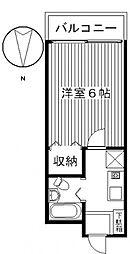 ジョイフル貝沢[2208号室号室]の間取り