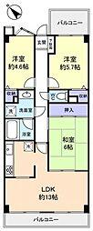 ライオンズマンション西八千代[9階]の間取り