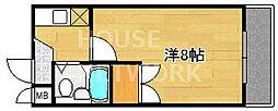 ピュアー紙屋川[306号室号室]の間取り