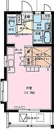 (仮称)神宮東2丁目マンション 2階ワンルームの間取り