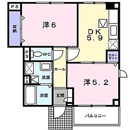 メゾン・ド・シャルム[1階]の間取り