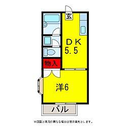 辰巳台ハイツ[2階]の間取り